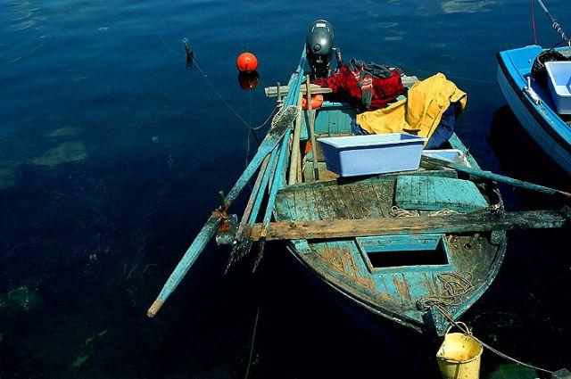 Zdjęcia: Biograd, północna Dalmacja, bardzo kolorowa łódź rybacka, CHORWACJA
