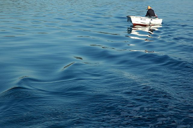 Zdjęcia: Biograd, północna Dalmacja, rybak, poranek na morzu, CHORWACJA
