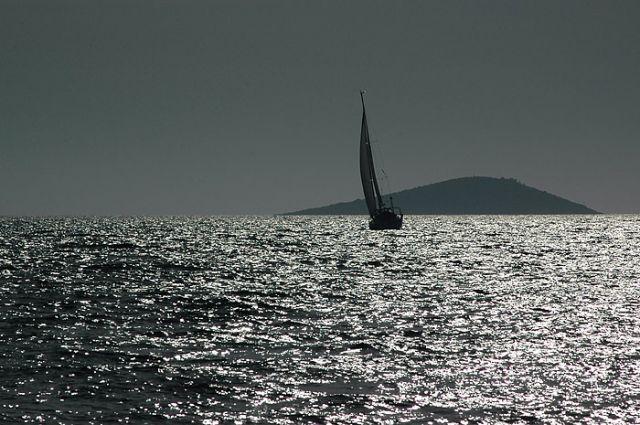 Zdjęcia: morze, północna Dalmacja, żagiel, CHORWACJA