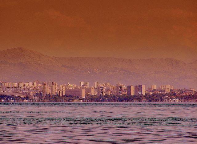 Zdjęcia: Kasztele, Split o zachodzie słońca, CHORWACJA