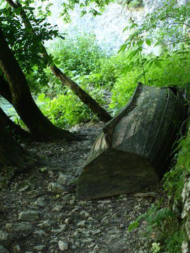 Zdjęcia: plitvice, plitvickie jeziora, z tego transportu nie dało się skorzystać, CHORWACJA