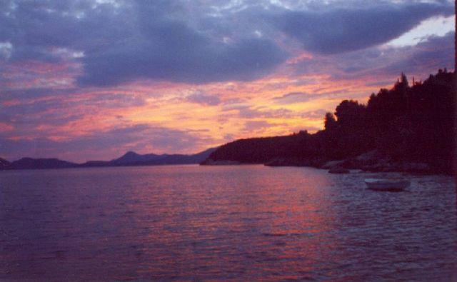 Zdjęcia: wyspa Krk, Zachód słońca nad Adriatykiem, CHORWACJA