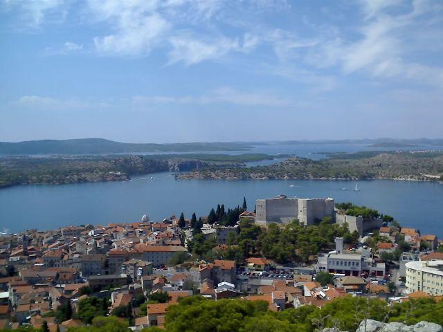 Zdjęcia: Szybenik, Dalmacja, Widok z ruin zamku na Szybenik, CHORWACJA