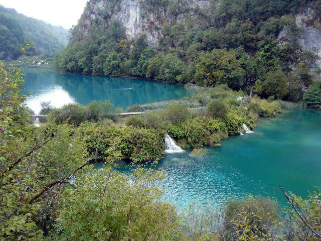 Zdjęcia: Plitwickie jeziora, Bałkany, Grobla, CHORWACJA