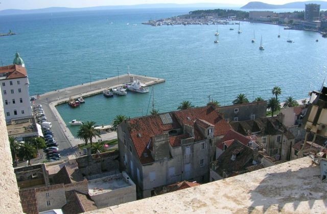 Zdjęcia: Split, Dalmacja, Widok z wieży katedralnej w Splicie, CHORWACJA