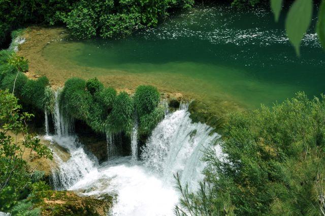 Zdjęcia: Park Narodowy Krka, Środkowa Dalmacja, Kaskady w Parku Narodowym Krka, CHORWACJA