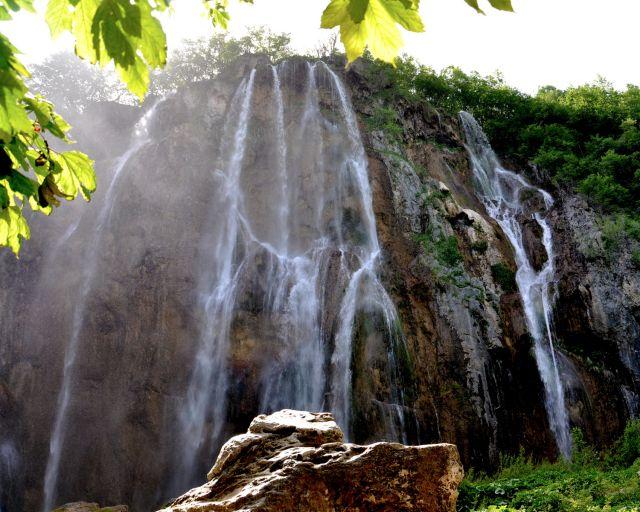 Zdjęcia: Park Narodowy Jeziora Plitwickie, Lika, środkowa Chorwacja, Wodospad , CHORWACJA