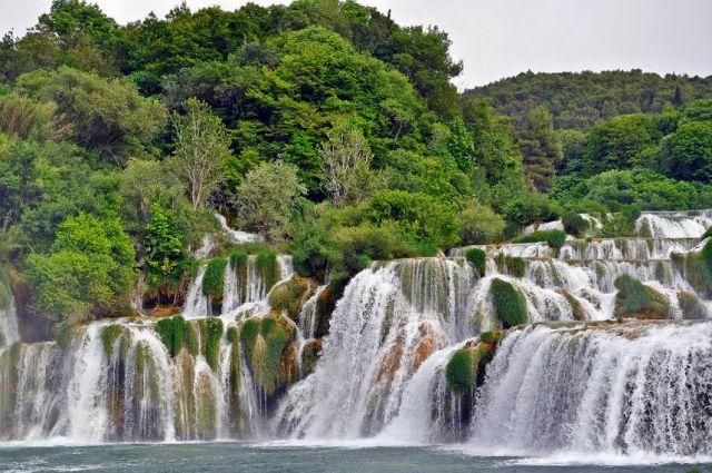 Zdjęcia: Środkowa Dalmacja / Park Narodowy Krka , Wodospady , CHORWACJA