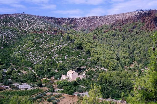 Zdj�cia: wyspa Hvar, Dalmacja, ocala�e siedlisko, CHORWACJA