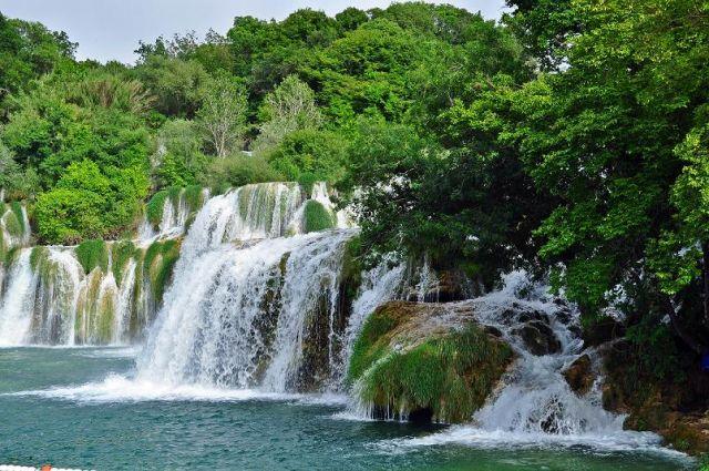 Zdjęcia: Park Narodowy Krk, Dalmacja, Wodospady, CHORWACJA