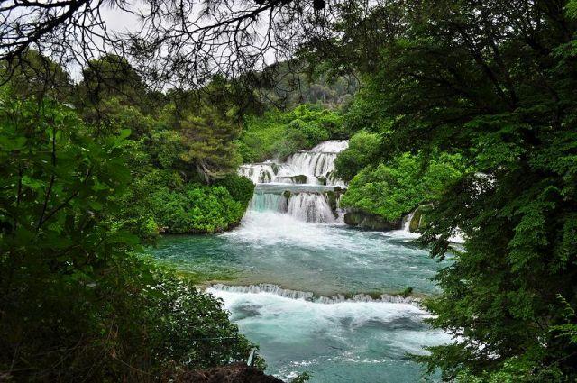 Zdjęcia: Park narodowy Krk Skradin, Dalmacja , Wodospady, CHORWACJA