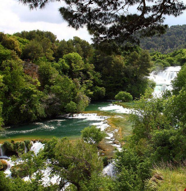 Zdjęcia: Park Narodowy Krka , Niedaleko Sibenika , Wodospady rzeki   Krka, CHORWACJA