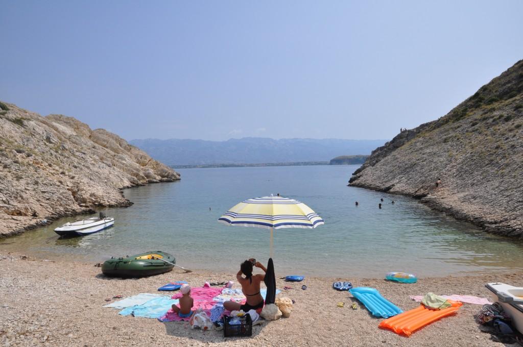 Zdjęcia: Vrsi - Duboga Draga, Dalmacja, Plaża, CHORWACJA