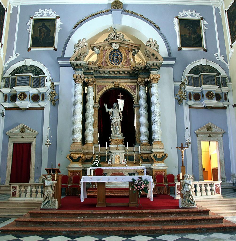 Zdjęcia: Dubrovnik, Południowa Dalmacja, Ołtarz w kościele św Zbawiciela , CHORWACJA
