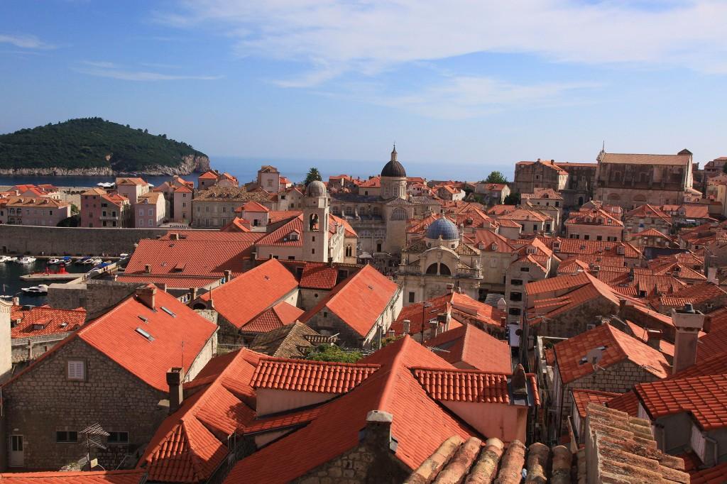 Zdjęcia: Dubrovnik, Południowa Dalmacja, Dachy i wieże, CHORWACJA