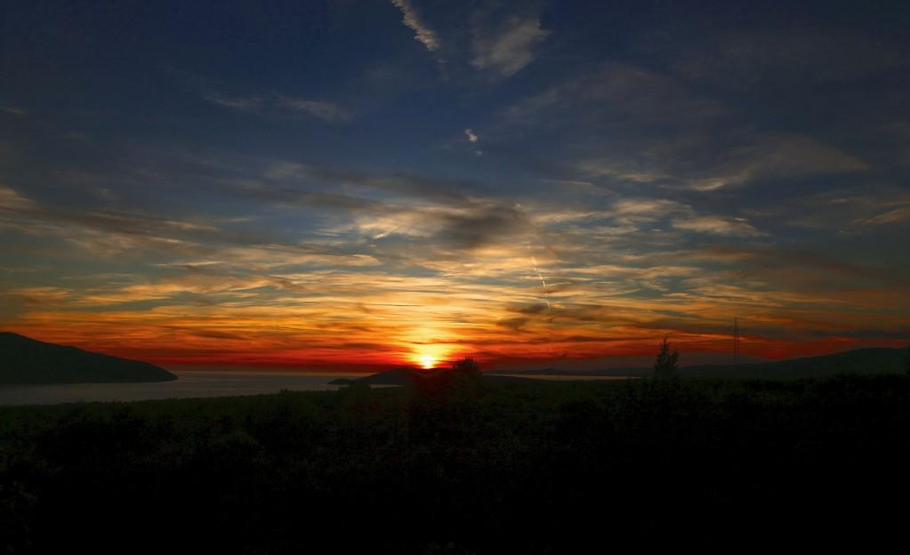 Zdjęcia:  Stari Grad , Środkowej Dalmacji -Hvar, Zachód słońca nad Adriatykiem, CHORWACJA