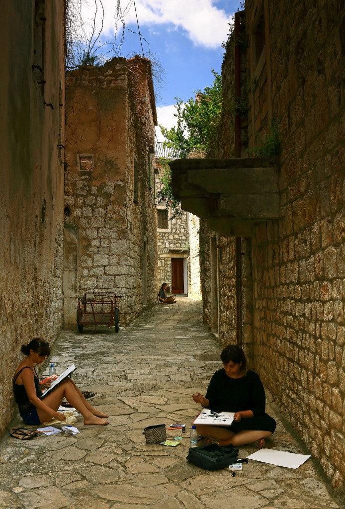 Zdjęcia:  Stari Grad , Środkowej Dalmacji -Hvar, W cieniu kamiennych uliczek, CHORWACJA