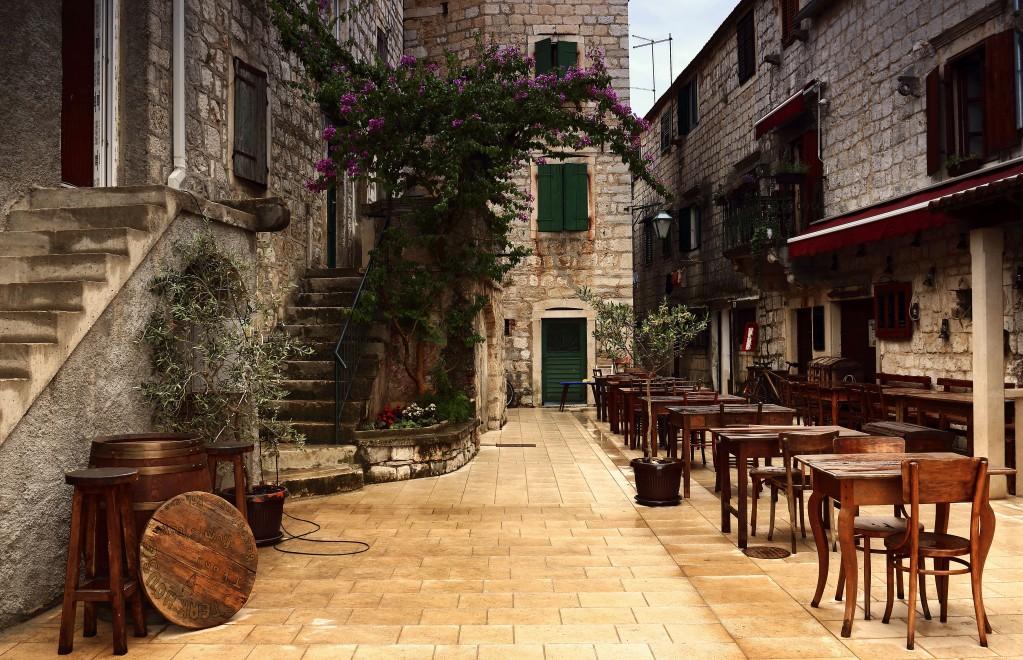 Zdjęcia:  Stari Grad , Środkowej Dalmacji -Hvar,  Stari Grad, uliczki starego miasta., CHORWACJA