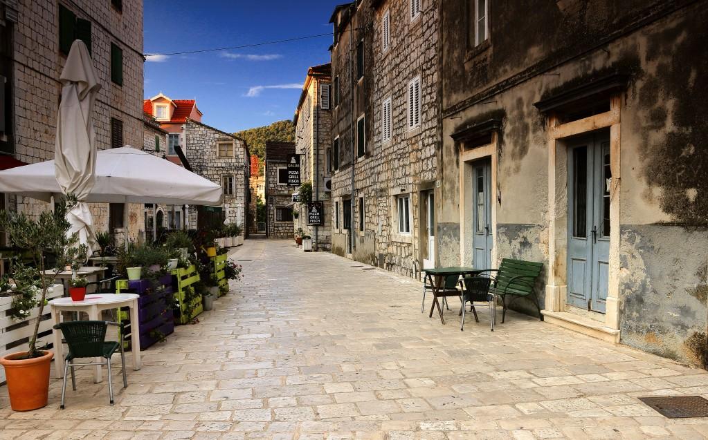 Zdjęcia:  Stari Grad , Środkowej Dalmacji -Hvar, Uliczkami Starego Miasta, CHORWACJA