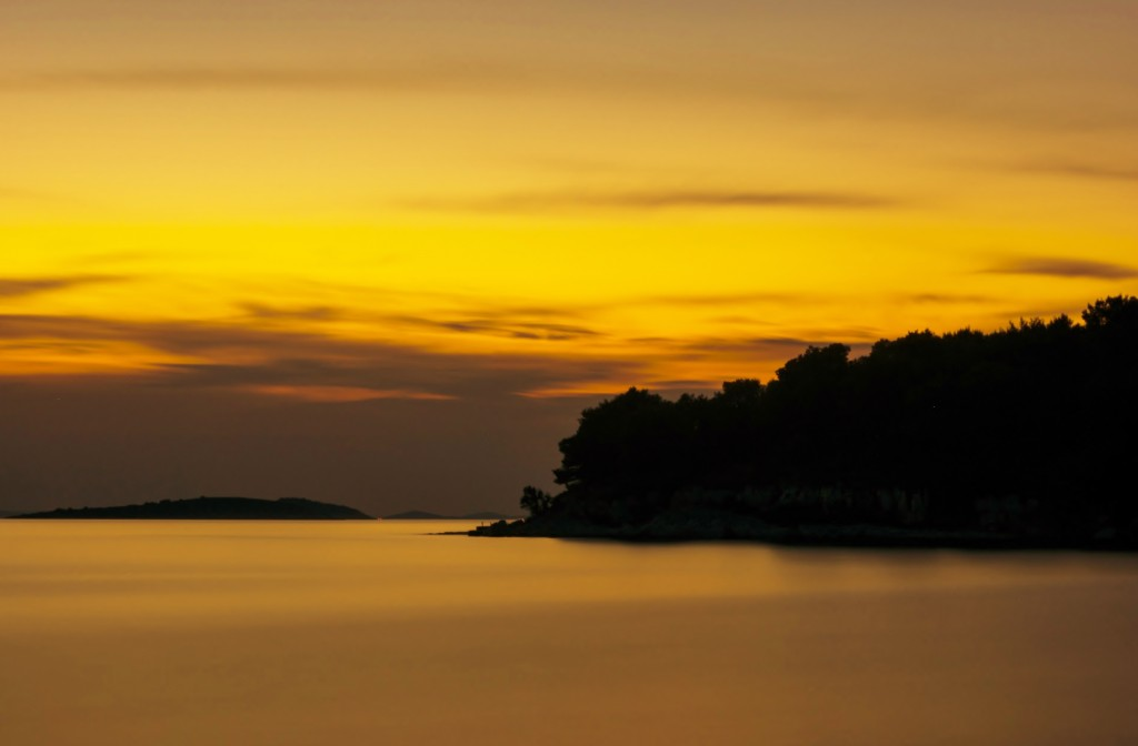 Zdjęcia: Lavdara, Lavdara, Zachód słońca-wyspa Lavdara, CHORWACJA