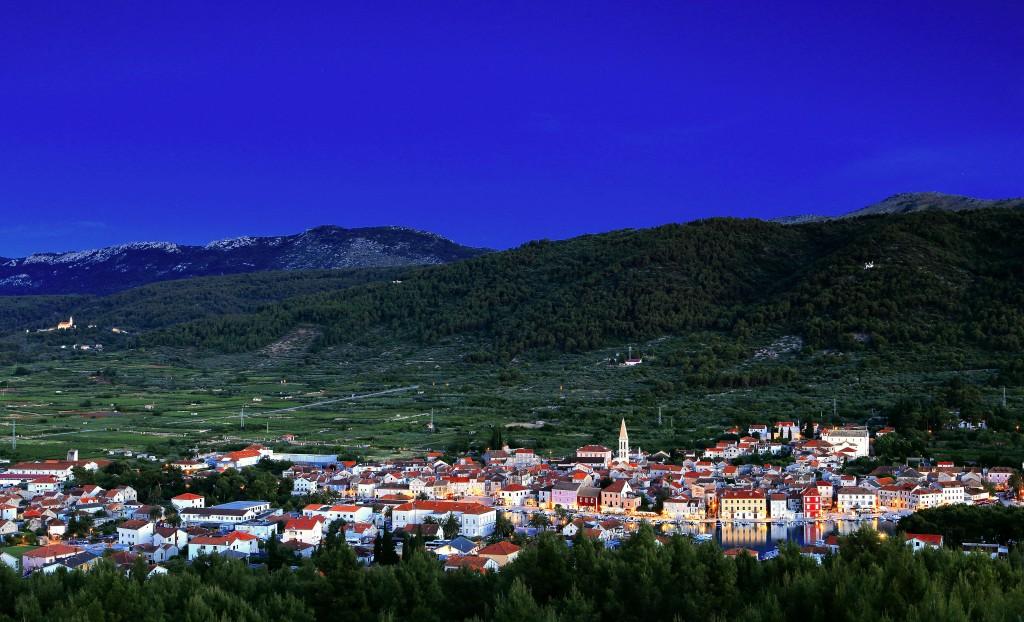 Zdjęcia:  Stari Grad , Środkowej Dalmacji -Hvar, Miasto w nocnej scenerii., CHORWACJA