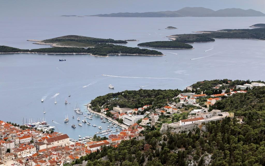 Zdjęcia: Hvar, Środkowej Dalmacji -Hvar, Widok na wyspy diabelskie, CHORWACJA