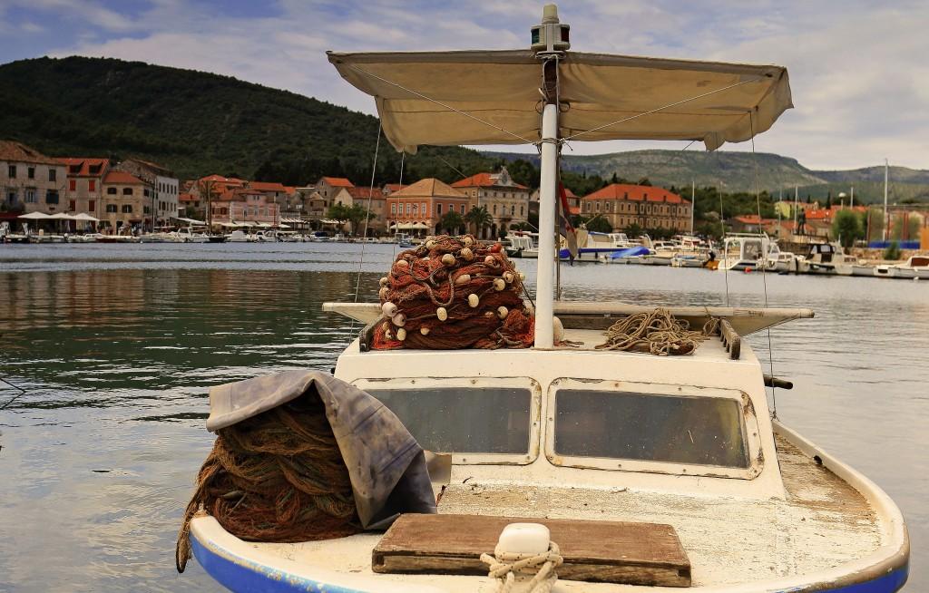 Zdjęcia:  Stari Grad , Środkowej Dalmacji -Hvar,  Żeglarska marina,, CHORWACJA