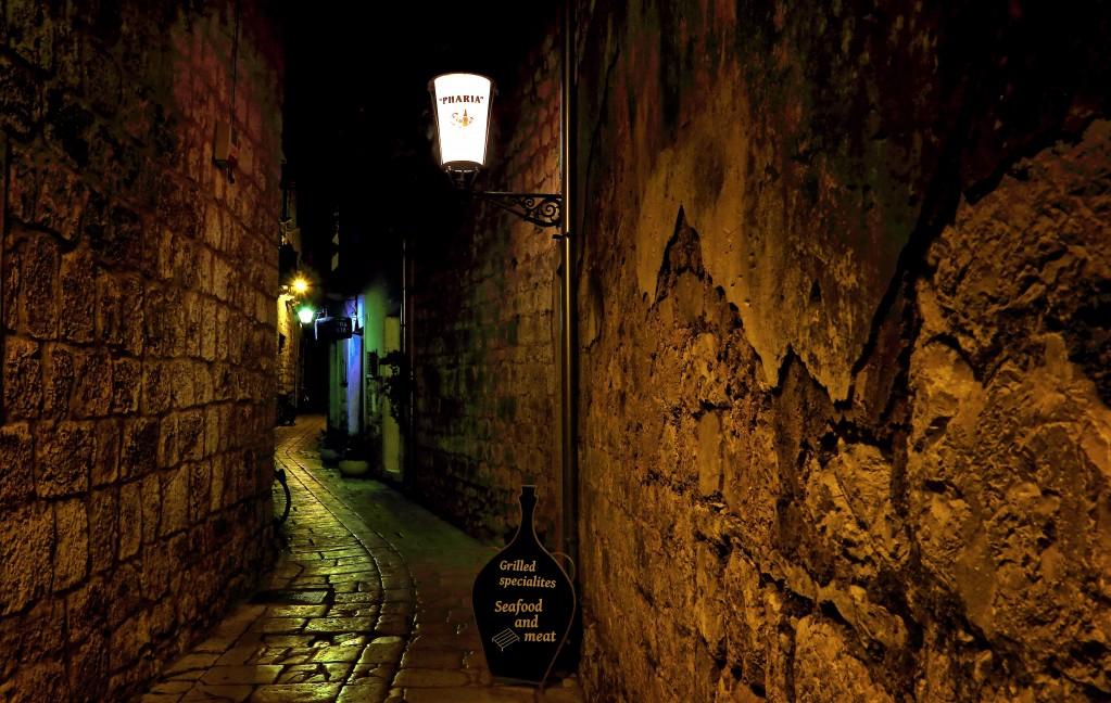 Zdjęcia:  Stari Grad , Środkowej Dalmacji -Hvar, Pokochaj miasto nocą., CHORWACJA