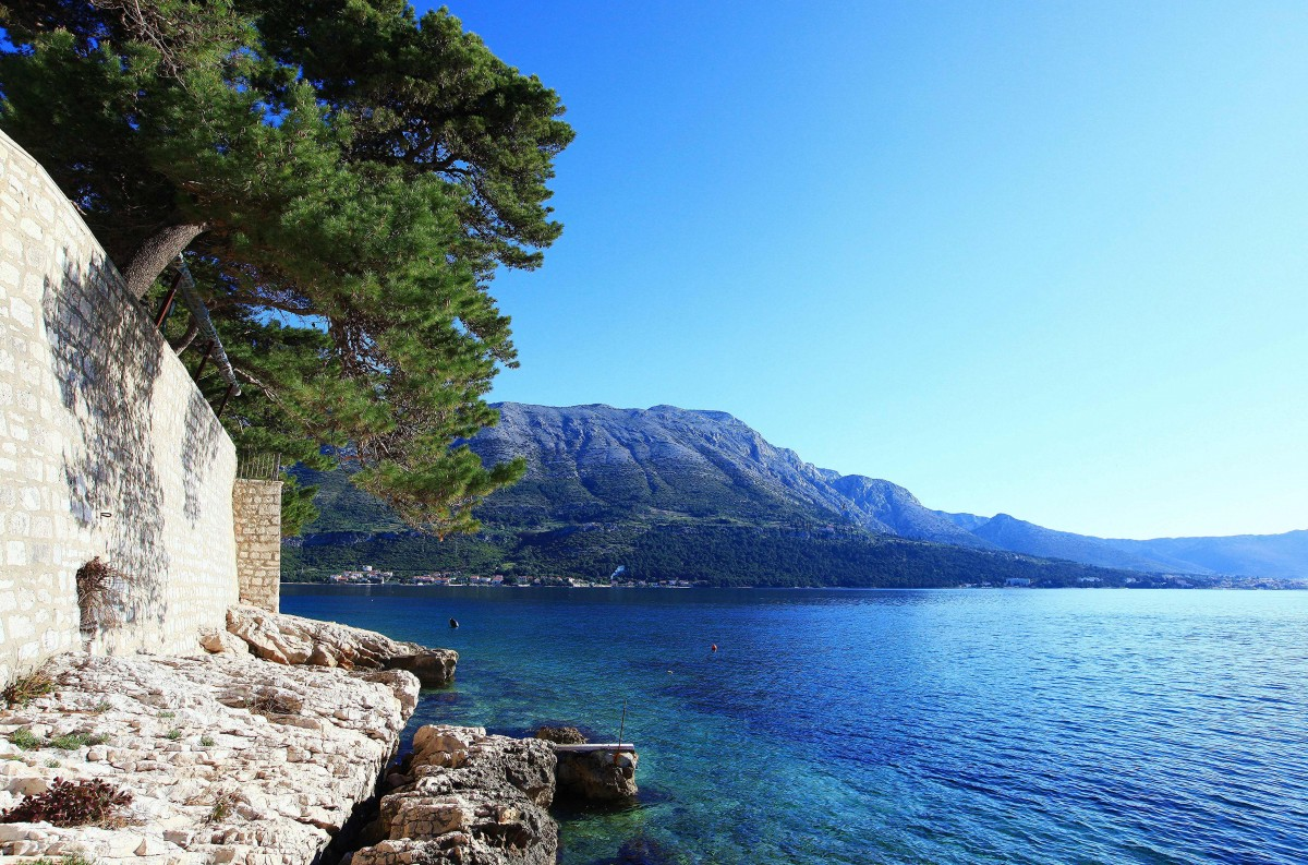 Zdjęcia: Korčula, Południowa Dalmacja, Za murami, CHORWACJA