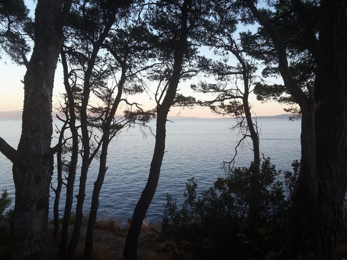 Zdjęcia: Ciovo, Dalmacja, Widok z Ciovo na wyspy położone na Morzu Adriatyckim, CHORWACJA