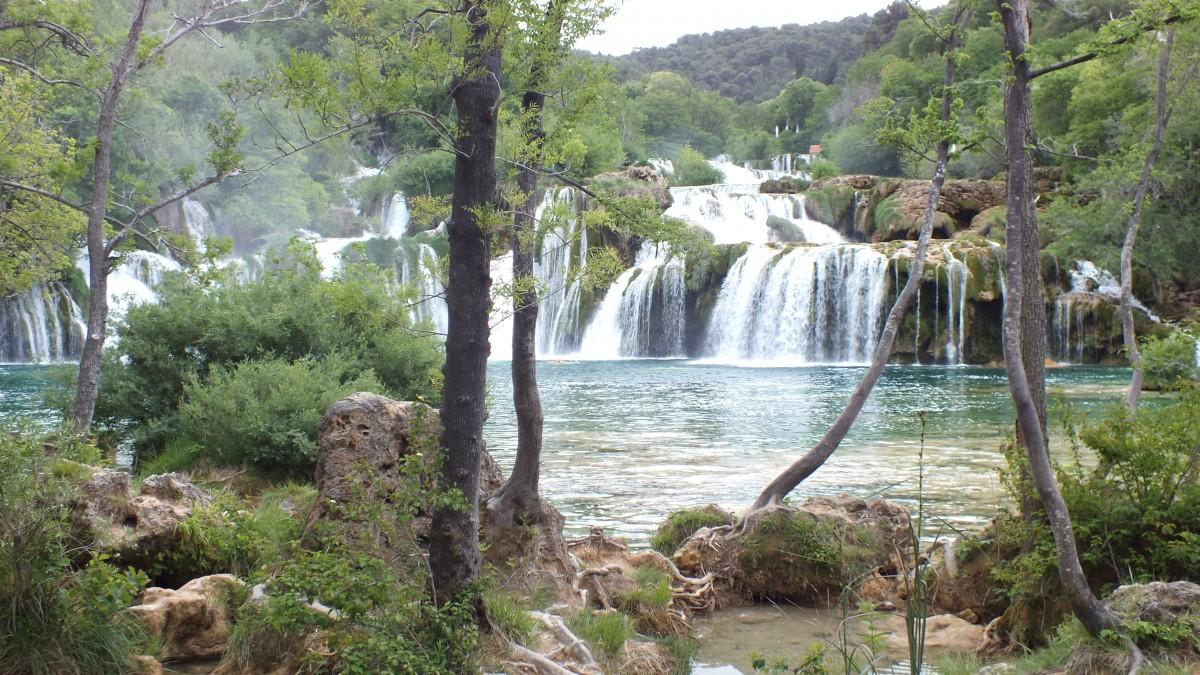 Zdjęcia: Park Narodowy Krka, Chorwacja, Wodospady na rzece Krka, CHORWACJA
