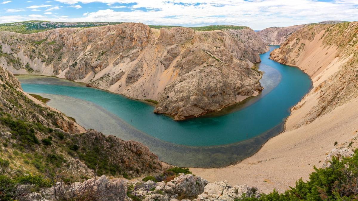 Zdjęcia: Kanion rzeki Zrmnje, Dalmacja, Kanion, CHORWACJA