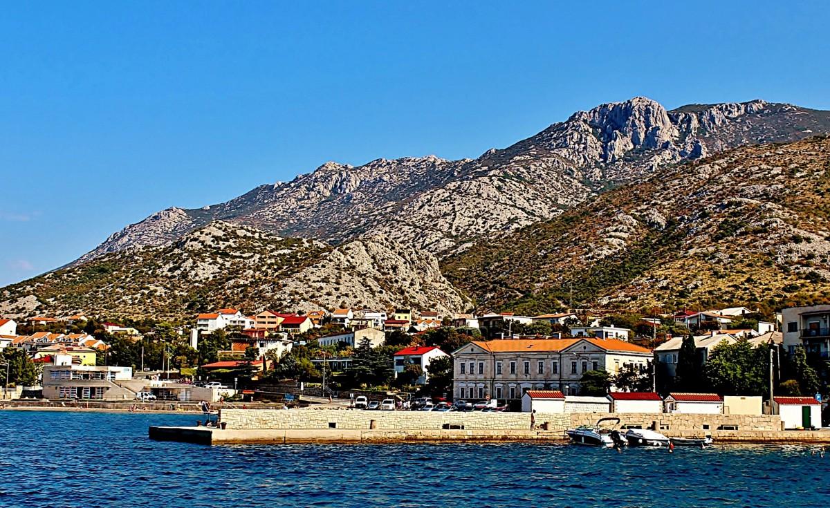 Zdjęcia: Karlobag, Dalmacja, Góry Velebit nad Karlobagiem, CHORWACJA