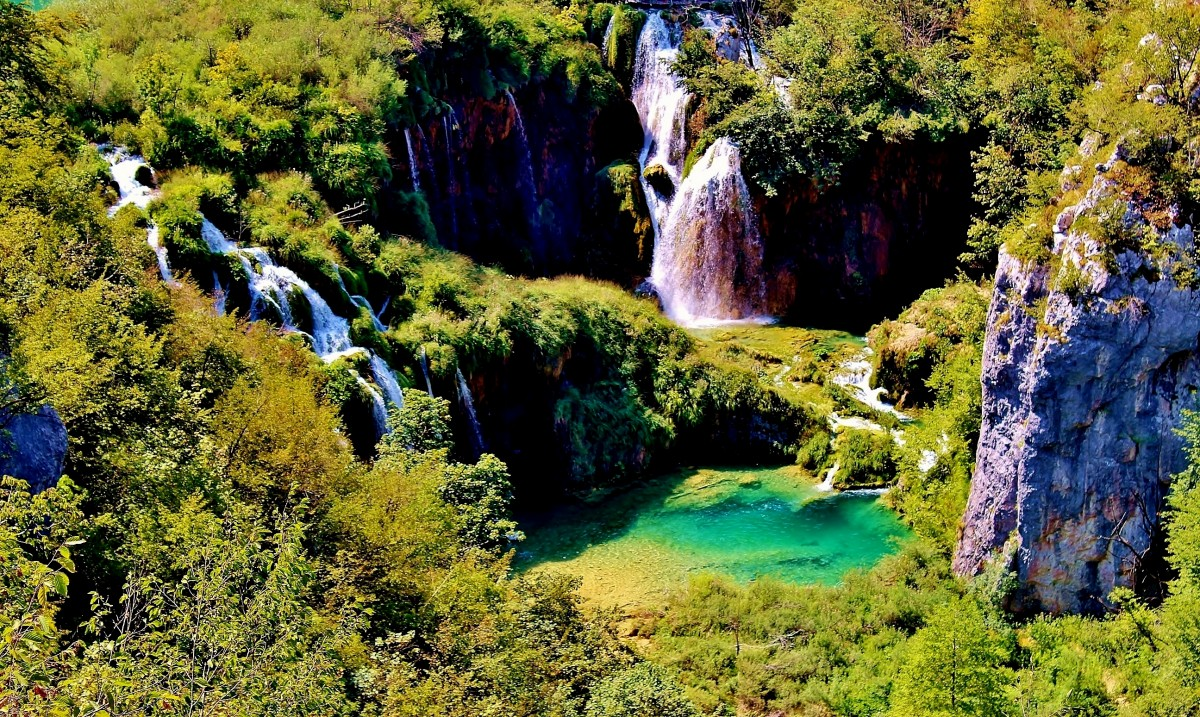 Zdjęcia: Jeziora Plitvickie, Żupania Licko-Senjska, Park Narodowy Jezior Plitvickich, CHORWACJA