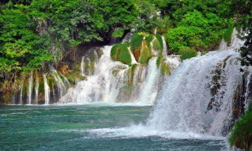 Zdjęcie CHORWACJA / Dalmacja Południowa / Skradin / Wodospady