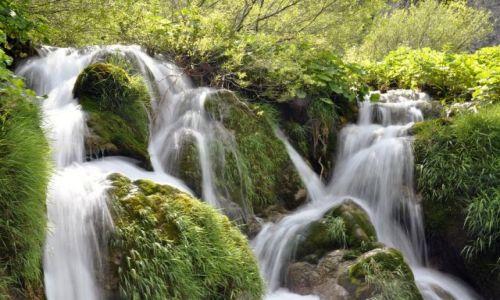 Zdjecie CHORWACJA / Kvarner / Park Narodowy Plitwickie Jeziora / Kaskady