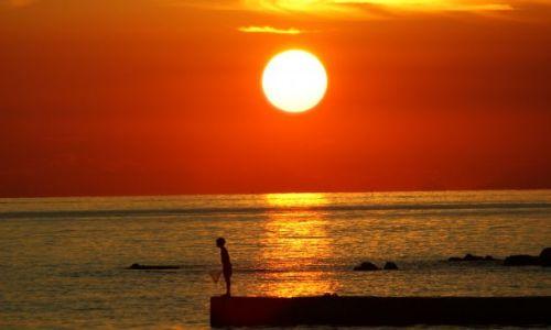 Zdjecie CHORWACJA / Półwysep Istria / Umag / Zachód słońca nad Adriatykiem