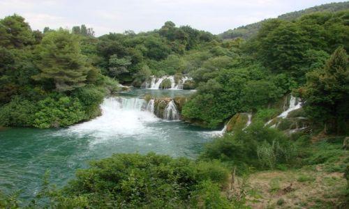 Zdjecie CHORWACJA / Sibenik / Rzeka Krka / wodospady rzeki Krka