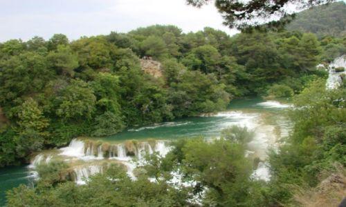 CHORWACJA / Sibenik / Rzeka Krka / wodospady rzeki Krka