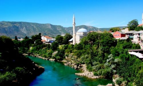 CHORWACJA / Bosnia i Hercogowina / Mostar / Neretwa pod Mostarem