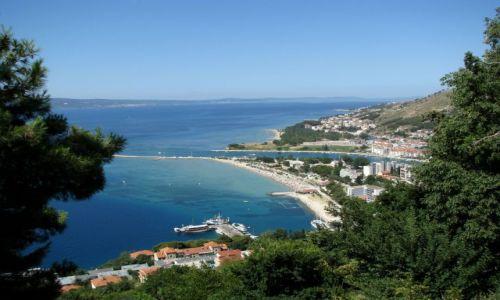 Zdjecie CHORWACJA / Dalmacja / Droga na zamek / Widok na Omiś