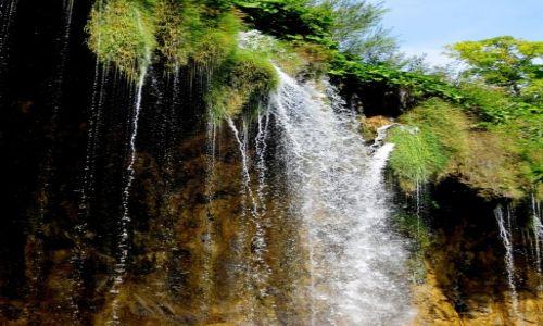 Zdjecie CHORWACJA / środkowa Chorwacja / Park Narodowy Jezior Plitwickich / w delikatnej mgiełce spadającej wody