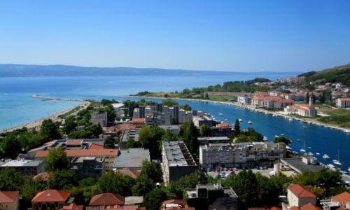 Zdjęcie CHORWACJA / Dalmacja / Omiš / Cetina wpada do morza