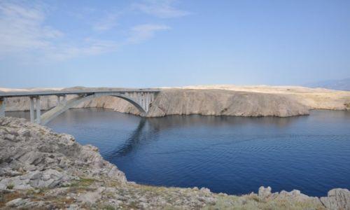 Zdjecie CHORWACJA / Dalmacja / Pag / Most na wyspę Pag