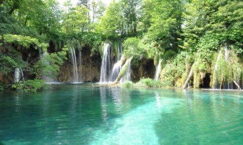 Zdjecie CHORWACJA / Dalmacja / Jeziora plitwickie / Wodospad