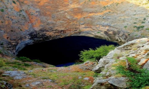 Zdjecie CHORWACJA / Dalmacja / Crveno Jezero w Imotski / spoglądając w dół...