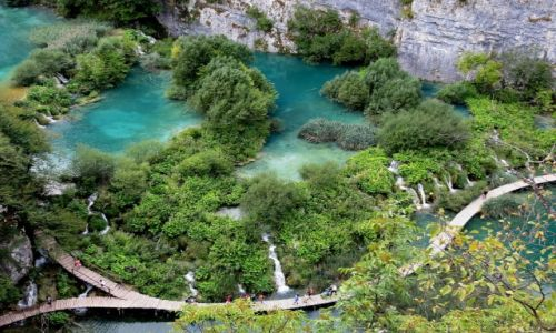 Zdjecie CHORWACJA / środkowa Chorwacja / Park Narodowy Jezior Plitwickich / czarodziejski świat przyrody...