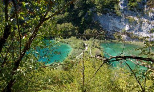 CHORWACJA / Plitwickie jeziora /  Park Narodowy / z góry