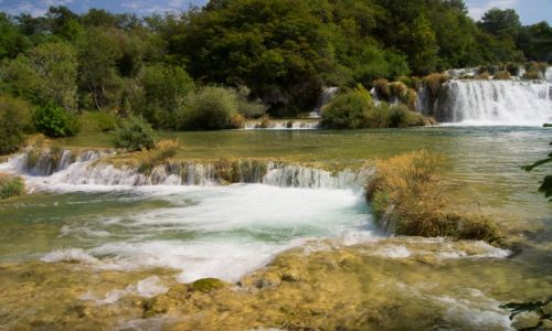 Zdjecie CHORWACJA / Dalmacja Środkowa / Wodospady Krki / Wodospady