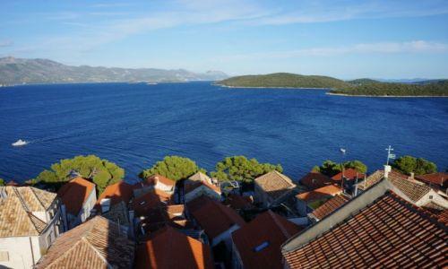 Zdjecie CHORWACJA / poludniowa Dalmacja, Korčula / Korčula / z wieży katedry św. Marka...